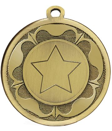 "Bronze Galaxy Tudor Rose Medal 45mm (1.75"")"