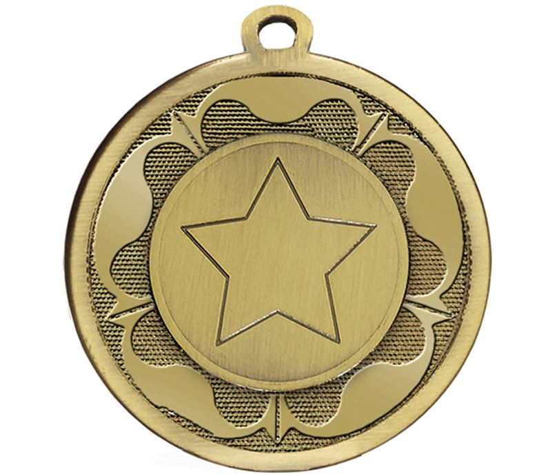 "Bronze Galaxy Tudor Rose Medal 45mm (1.75"")"