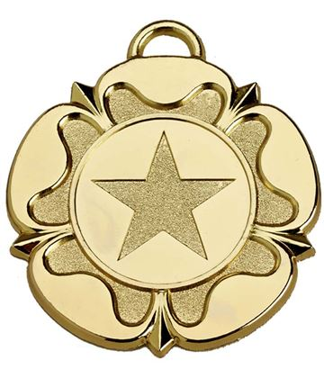 "Gold Tudor Rose Medal 50mm (2"")"