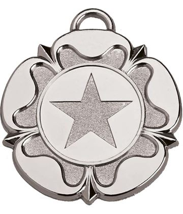 "SIlver Tudor Rose Medal 50mm (2"")"