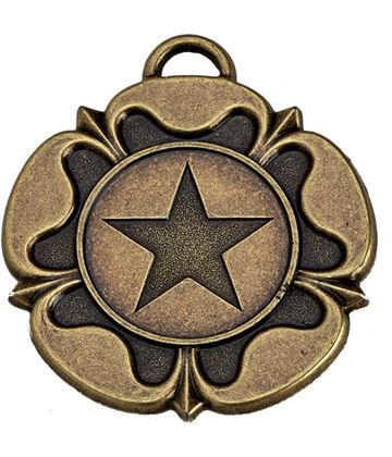 "Bronze Tudor Rose Medal 50mm (2"")"