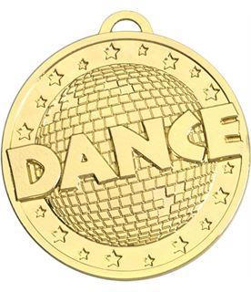 """Gold Dance Target Medal 50mm (2"""")"""