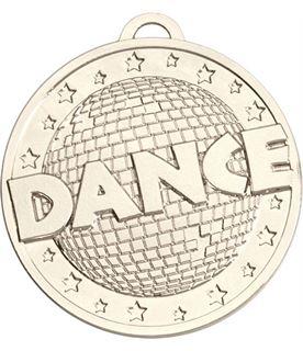 """Silver Dance Target Medal 50mm (2"""")"""