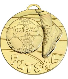 """Gold Futsal Medal 50mm (2"""")"""