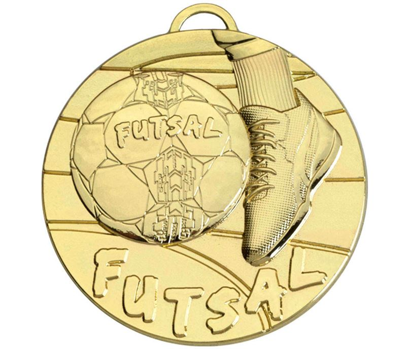 "Gold Futsal Medal 50mm (2"")"