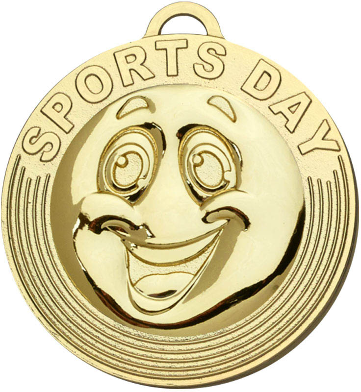 """Sports Day Target Medal Gold 50mm (2"""")"""