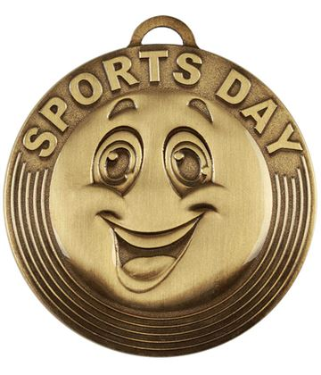 "Sports Day Target Medal Bronze 50mm (2"")"