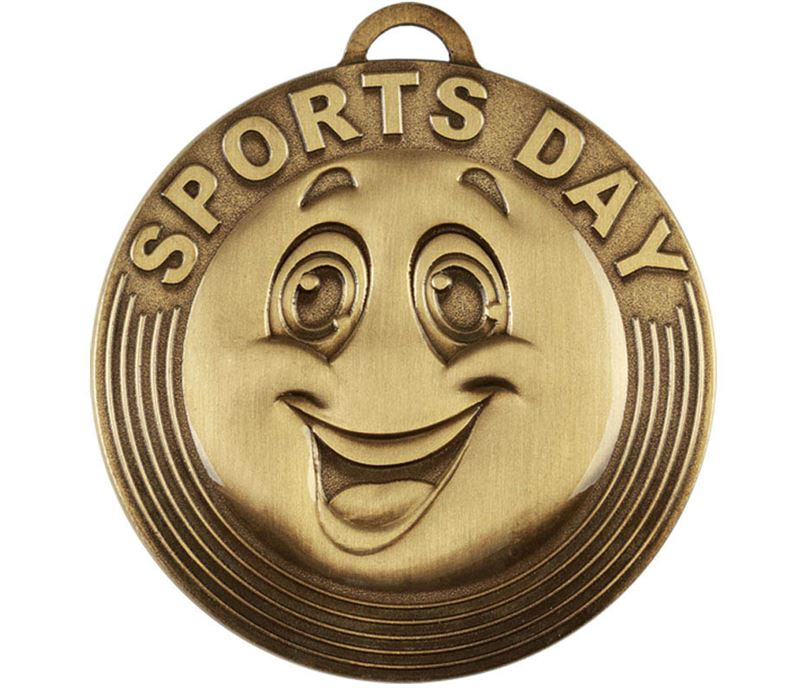 """Sports Day Target Medal Bronze 50mm (2"""")"""