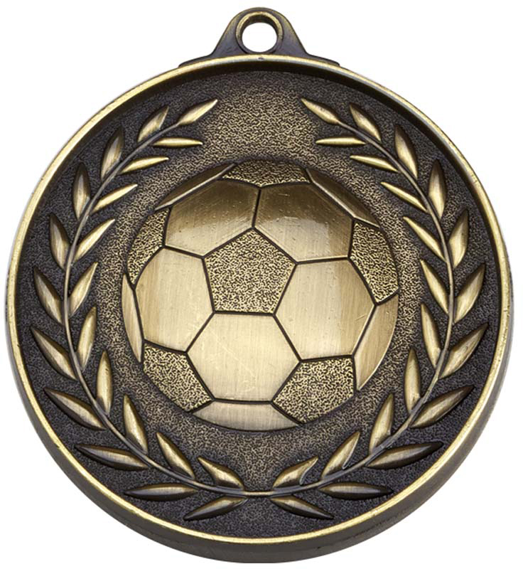 "Antique Gold Eternity Football Medal 50mm (2"")"