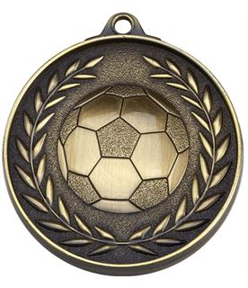 """Antique Gold Eternity Football Medal 50mm (2"""")"""