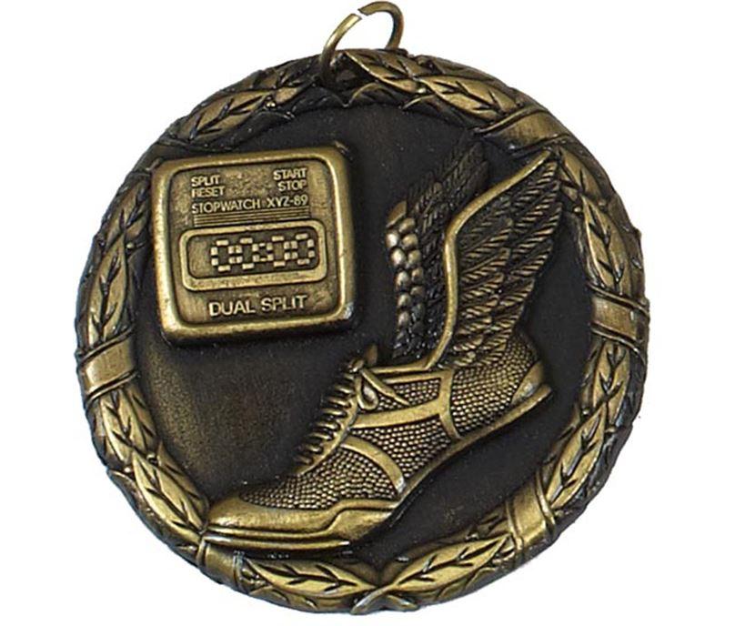 """Gold Laurel Sprint Medal 50mm (2"""")"""