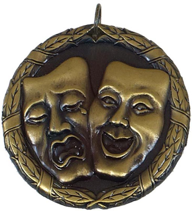 """Gold Laurel Drama Medal 50mm (2"""")"""