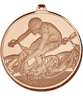 "Frosted Glacier Bronze Cycling Medal 60mm (2.25"")"