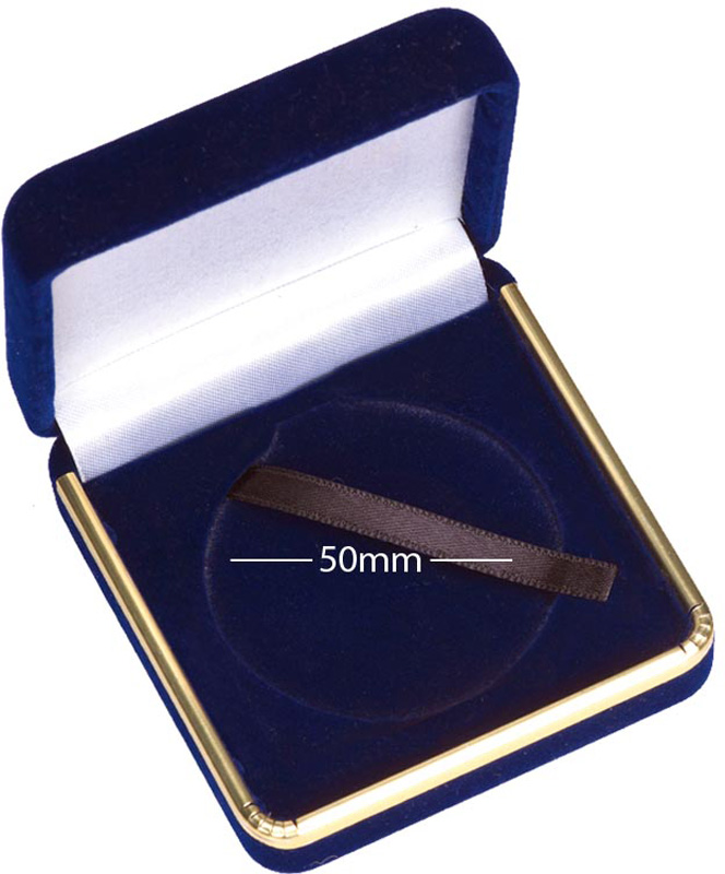 Luxury Medal Presentation Case with Gold Trim 50mm