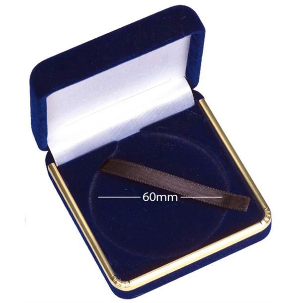 Luxury Medal Presentation Case with Gold Trim 60mm