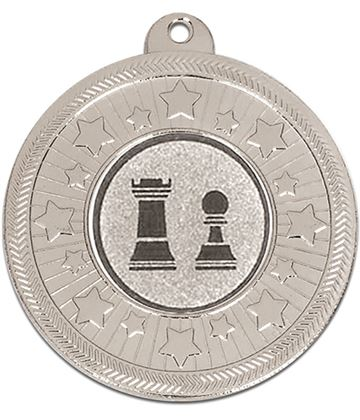 "Silver Multi Star Medal with Centre Disc 50mm (2"")"