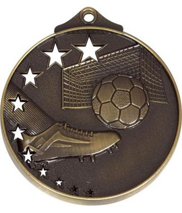 "AllStars Bronze Football Medal 52mm (2"")"