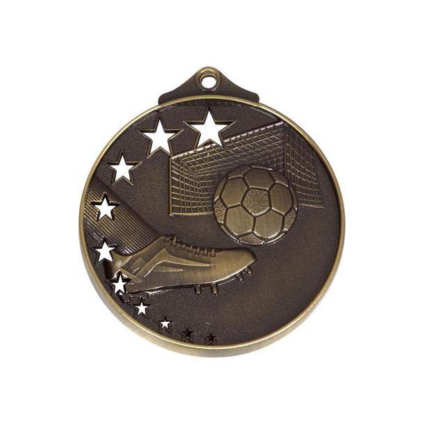 """AllStars Bronze Football Medal 52mm (2"""")"""