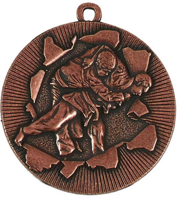 """X-Plode Bronze Judo Medal 50mm (2"""")"""