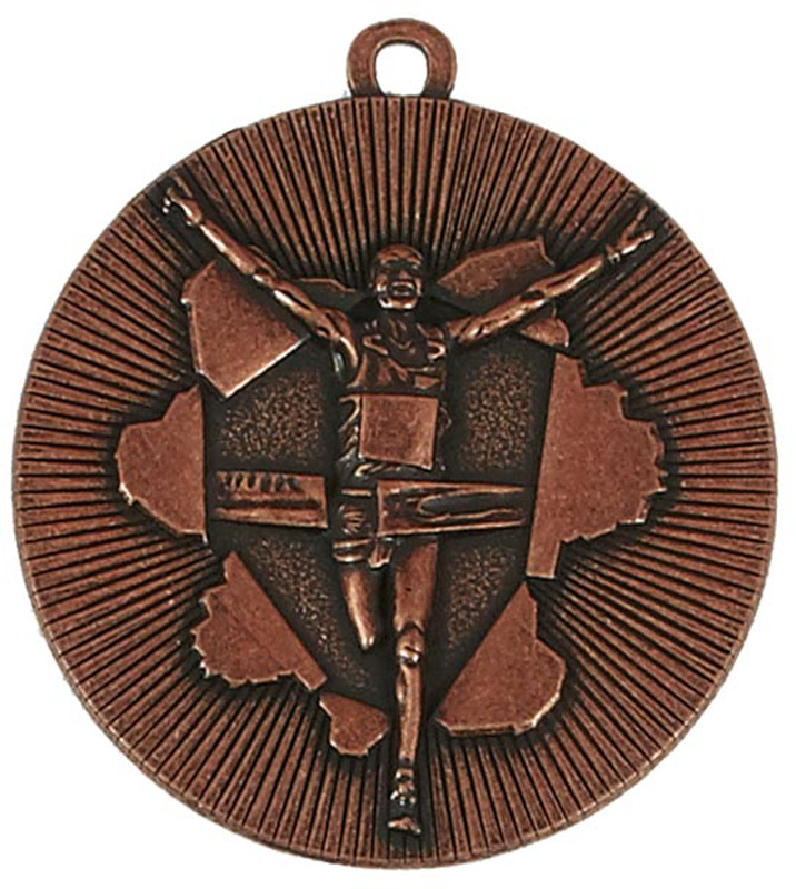 "Bronze X-Plode Running Medal 50mm (2"")"
