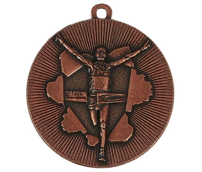 """Bronze X-Plode Running Medal 50mm (2"""")"""