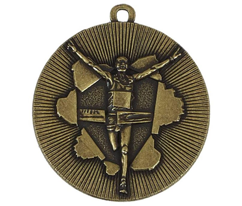 "Gold X-Plode Running Medal 50mm (2"")"