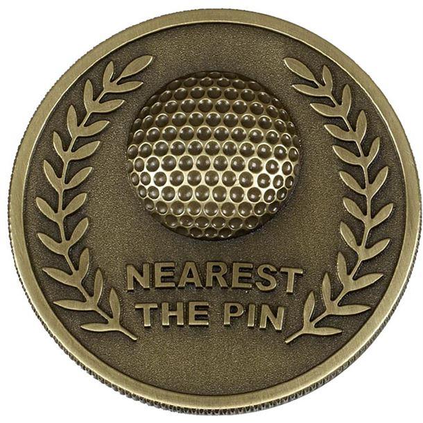 Gold Prestige Nearest The Pin Golf Medal 60mm