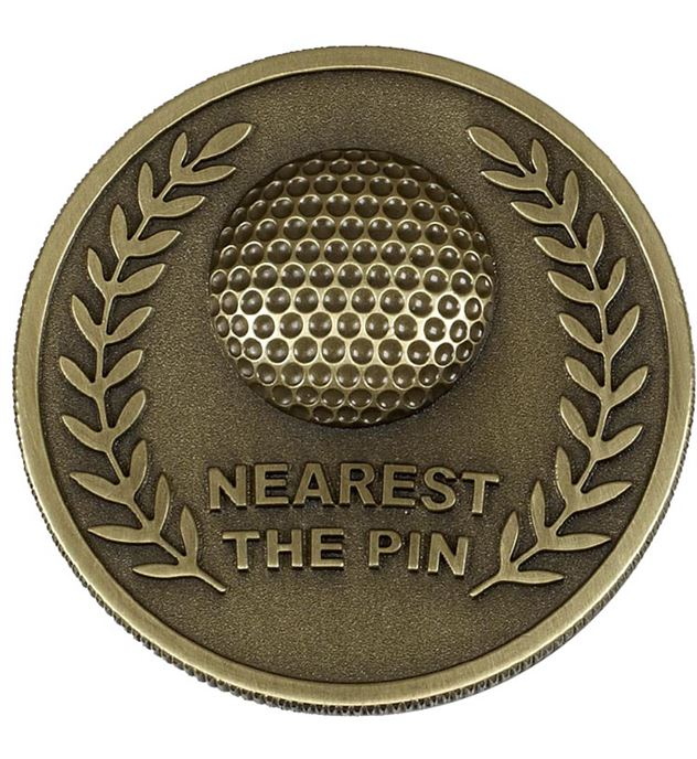 Gold Prestige Nearest The Pin Golf Medal 60mm