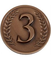 "Bronze Heavyweight Prestige 3rd Place Medal 60mm (2.25"")"