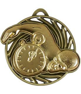 "Gold Vortex Swimming Medal 50mm (2"")"