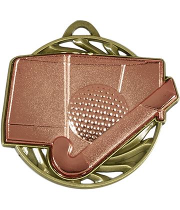 "Bronze Vortex Hockey Medal 50mm (2"")"