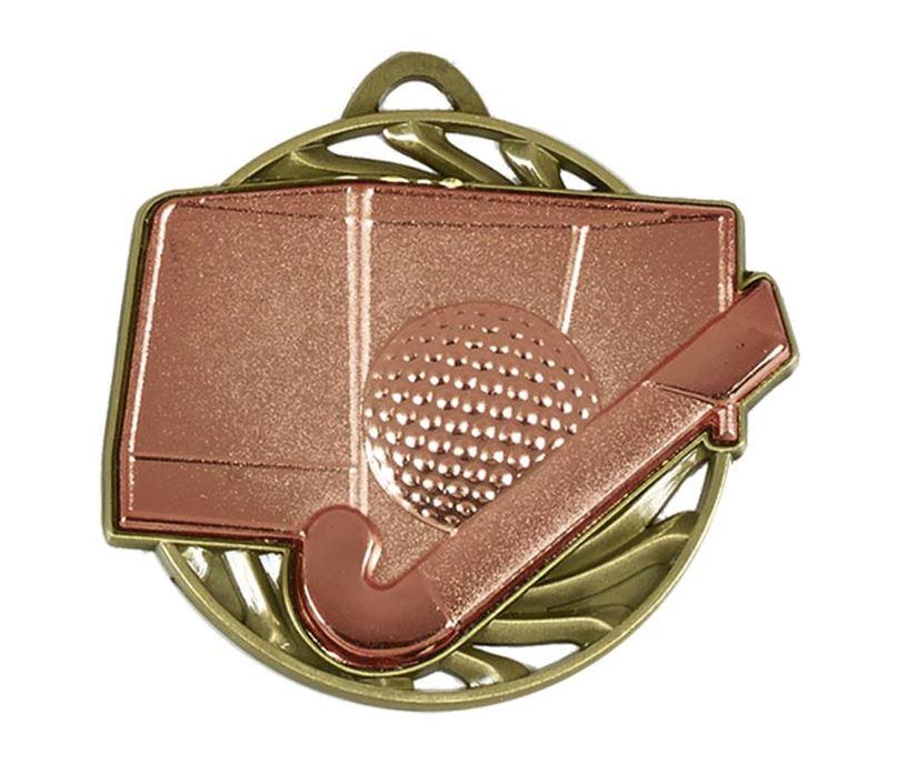 "Bronze Vortex Hockey Medal 50mm (2"")"