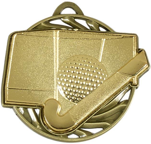 """Gold Vortex Hockey Medal 50mm (2"""")"""
