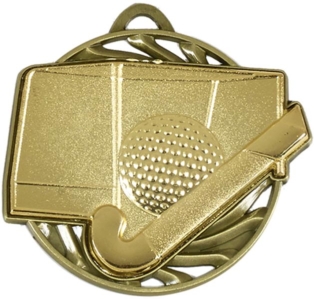 "Gold Vortex Hockey Medal 50mm (2"")"
