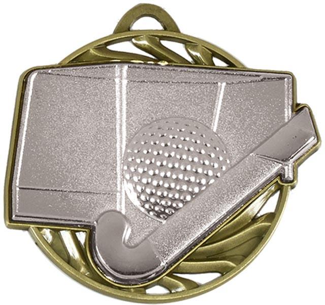 "Silver Vortex Hockey Medal 50mm (2"")"
