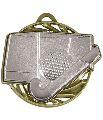 "Silver Vortex Hockey Medal 50mm (2"")"