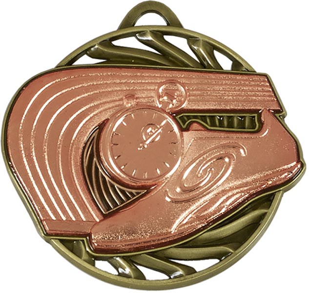 "Bronze Vortex Athletics Medal 50mm (2"")"