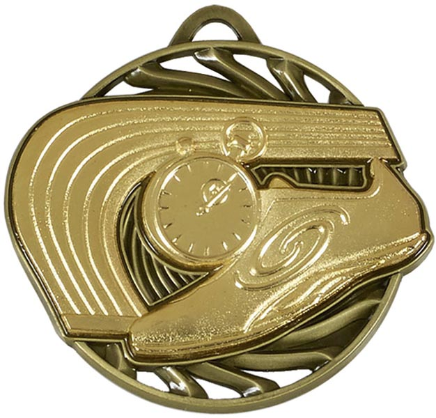 "Gold Vortex Athletics Medal 5cm (2"")"