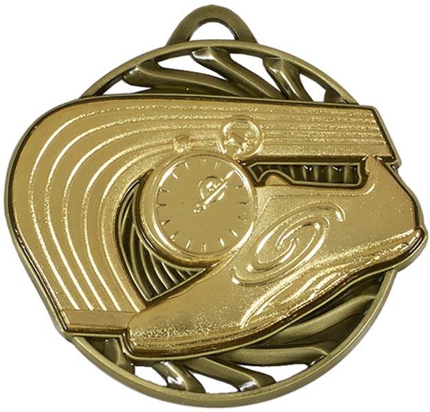 "Gold Vortex Athletics Medal 5cm (2"")"