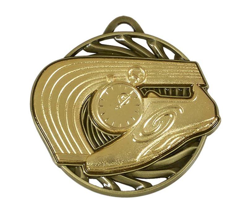 """Gold Vortex Athletics Medal 50mm (2"""")"""