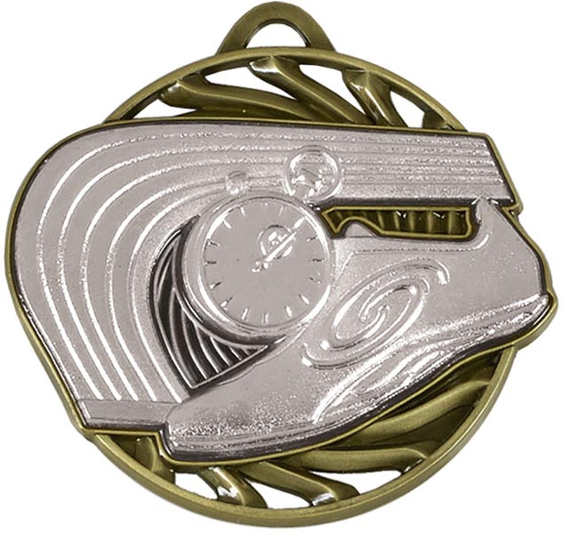 "Silver Vortex Athletics Medal 50mm (2"")"