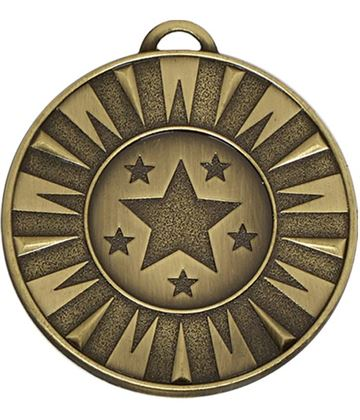 "Bronze Flash Target Medal 50mm (2"")"