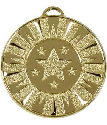 """Gold Flash Target Medal 50mm (2"""")"""