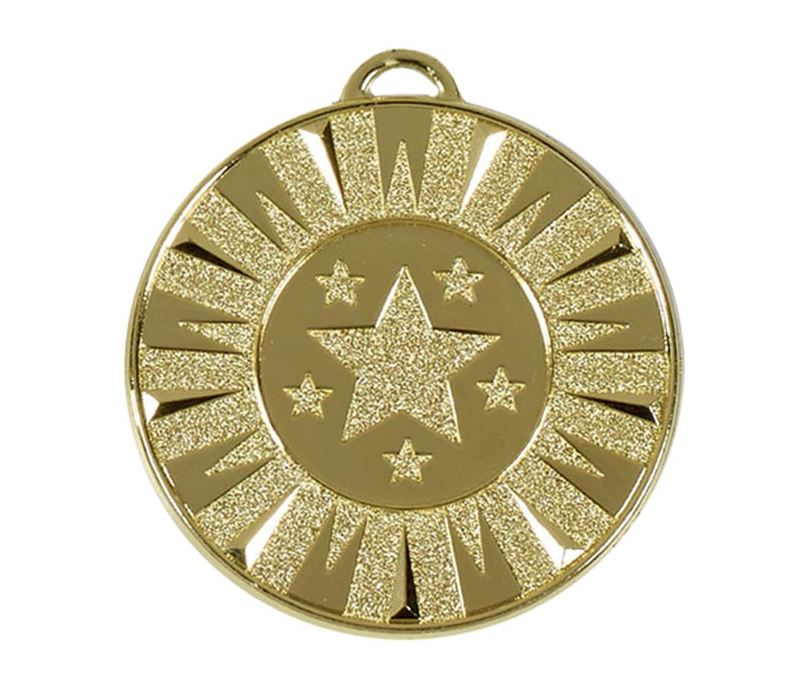 "Gold Flash Target Medal 50mm (2"")"