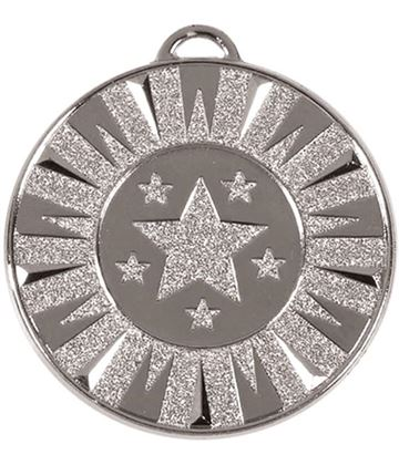 "Silver Flash Target Medal 50mm (2"")"