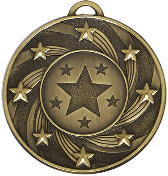 "Bronze Spiral Star Medal 5cm (2"")"