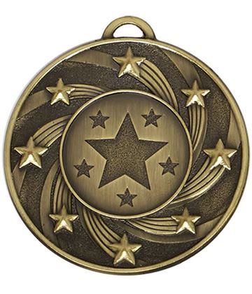 "Bronze Spiral Star Medal 50mm (2"")"
