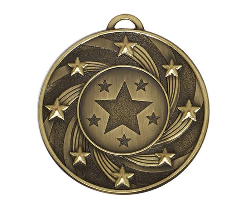 "Bronze Spiral Star Medal 50mm (2"")"
