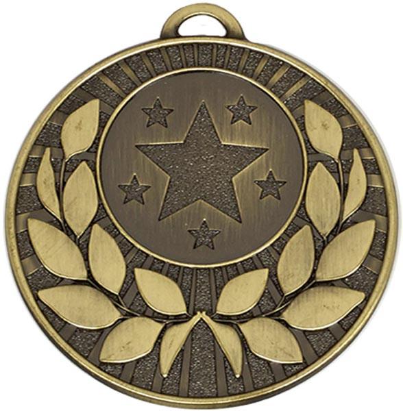 "Bronze Laurel Wreath Star Medal 5cm (2"")"