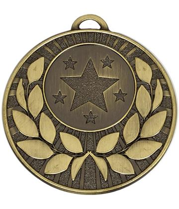 "Bronze Laurel Wreath Star Medal 50mm (2"")"